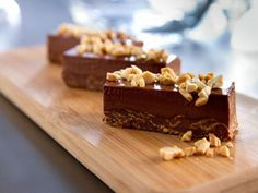 Barres croustillantes au chocolat et aux arachides