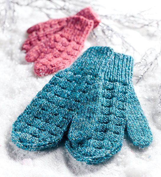 Creative Knitting Free Patterns : Family fun mittens child women s and men free pattern