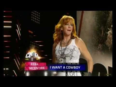 """Reba Mcentire - """"I Want A Cowboy"""" Live ((CMA 2010))"""
