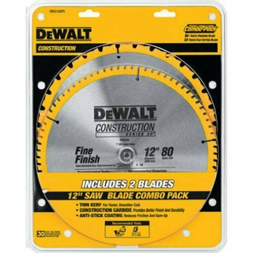 Dewalt Dw3128p5 80 Tooth 12 In Crosscutting Tungsten Carbide Miter Saw Blade Dewalt Circular Saw Blades Table Saw Blades Saw Blade