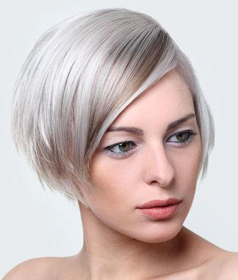 A very light choppy bob with an innovative subtle streak in the side swept bangs. - See more at: http://www.short-hairstyles.com/short/s22.htm#13