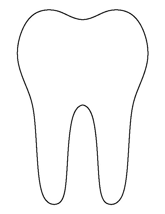 tooth coloring page - tooth pattern use the printable outline for crafts