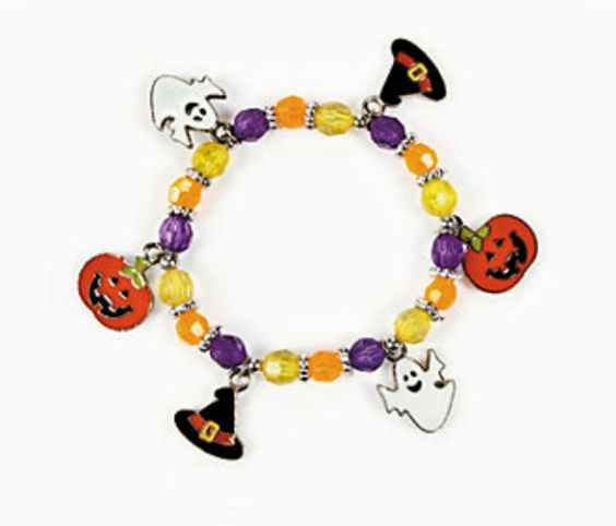 Halloween Charm Bracelet by CapeCodGiftShop on Etsy, $7.99