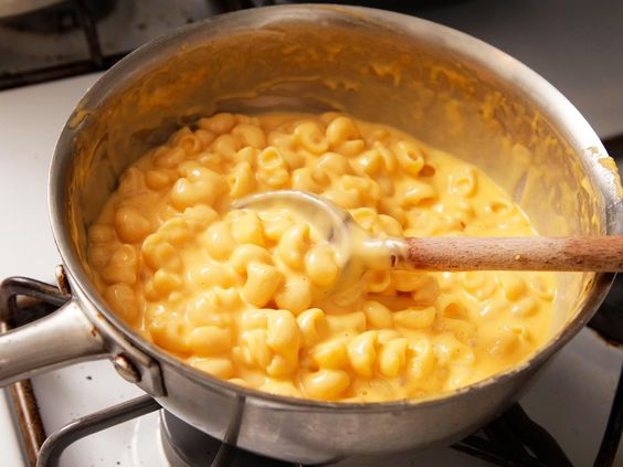 What we've got here is a stovetop mac and cheese recipe that's only about 10 percent more cumbersome to make than the blue box (the only extra step is measuring a few ingredients) but tastes far, far better.