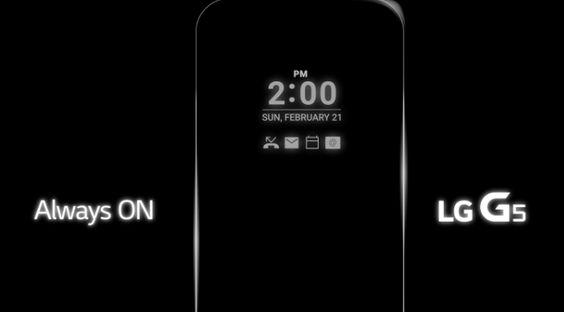 Ver LG G5 confirma la pantalla Always ON