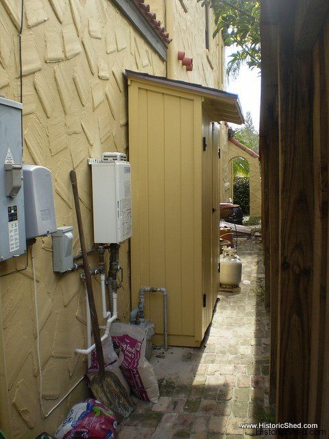 Narrow Storage Shed Along Side Of House Storage Shed By Historic