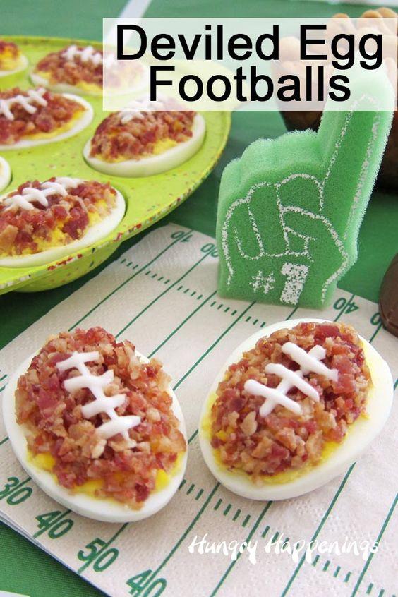 Deviled Egg Footballs