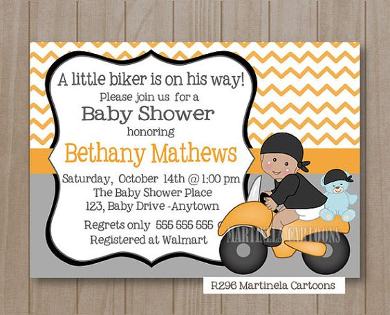 biker baby shower motorcycle baby shower orange baby orange chevron