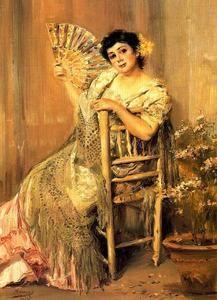 Woman Fanning - (José Villegas Cordero)