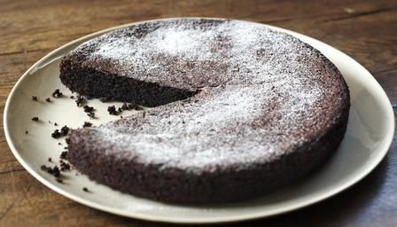 """Chocolate Olive Oil Cake by Nigella Lawson, who says: """"I first came up with this recipe because I had someone coming for supper who – genuinely couldn't eat wheat or dairy, it is so meltingly good, I now make it all the time for those whose life and diet are not so unfairly constrained, myself included."""""""