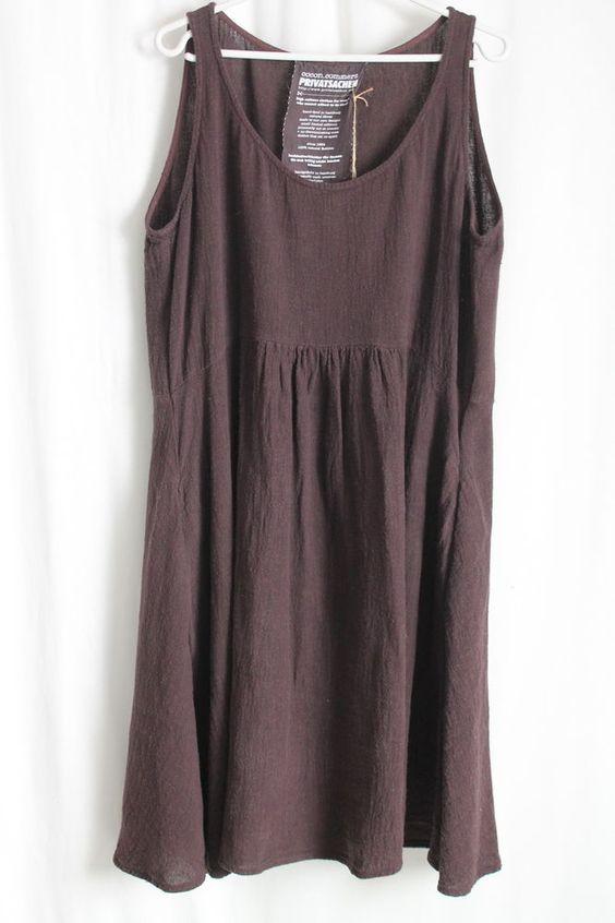 cocon.commerz PRIVATSACHEN MÜHELOS Kleid aus Wüstnleinen in weinrot Größe 2