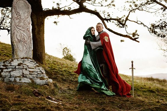 Morgana and Uther. Katie McGrath and Anthony Head