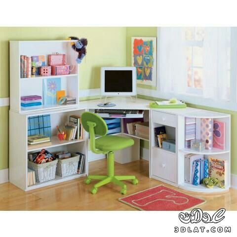 Pin De Rawan Ali En مكاتب للمذاكرة للبنات Decoracion Para Ninos Muebles De Manualidades Escritorio Con Librero