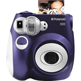 Polaroid 300 Instant Camera (purple!) - business card sized photos - $69.99