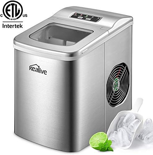 New Portable Ice Maker Machine Kealive Stainless Steel Ice Maker