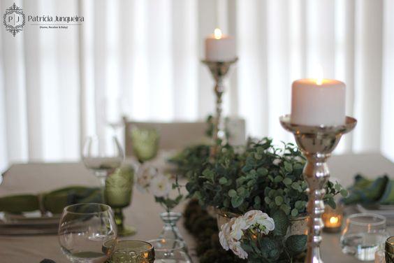 Decoração de mesa para Jantar por Patricia Junqueira {Home, Receber & Baby}.  #Tablescape www.patriciajunqueira.com.br