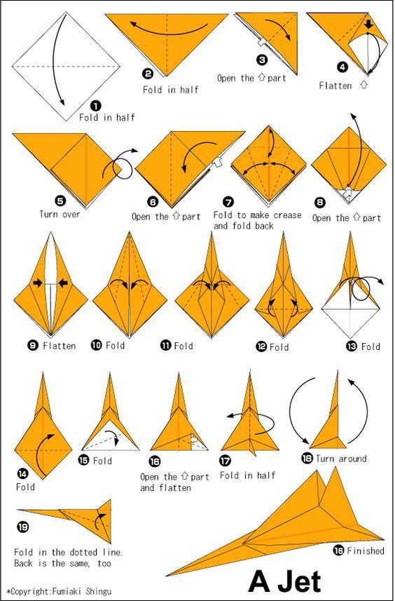 30 Tutorials Are Easy To Create Origami Origami Plane, Origami