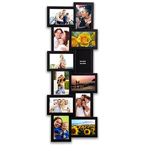 Hello Laura 32 By 12 Inch Gallery Collage Wall Hanging Photo Frame For 4 X 6 Photo 12 Opening Photo Soc Photo Frame Wall Wall Hanging Photo Frames Wall Collage