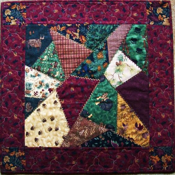 Crazy Quilt step by step instructions for simple block | Crazy For ... : how to sew a crazy quilt - Adamdwight.com