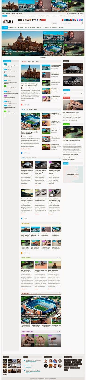 EliteNews is fresh and new responsive #Magazine #WordPress #Themes. This themes make your article look very professional. This theme is perfect for any type of #news, magazine, blog, review related #website.