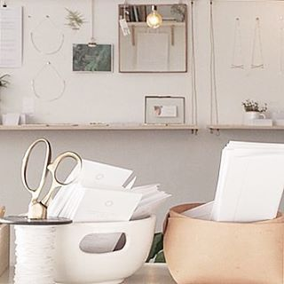 Repost from Gathershop of the gorgeous view from her desk which includes my Nature print.