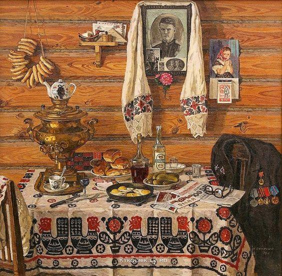 Семенюк Юрий Иванович (1922-2006) «Сегодня в России праздник» 1975
