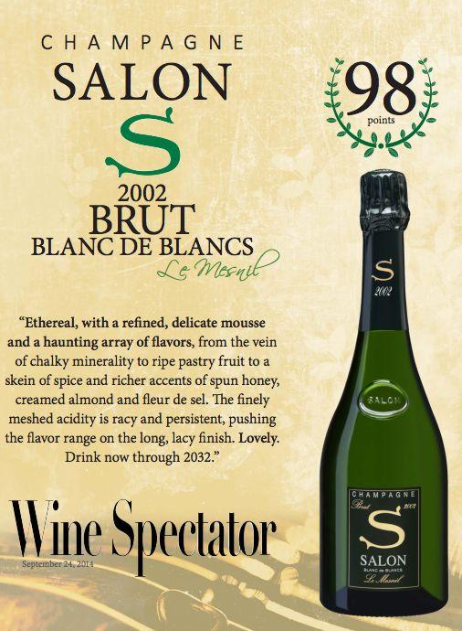 ChampagneSalon 2002 Brut Blanc de Blancs - 98 points - Wine ...