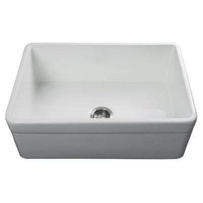 Fossil Blu Luxury 30 Inch Fireclay Modern Farmhouse Kitchen Sink In White Single Bowl With Belted Front Includes Drain Fsw10 In 2020 Dekoration Diy Dekoration Kerzen