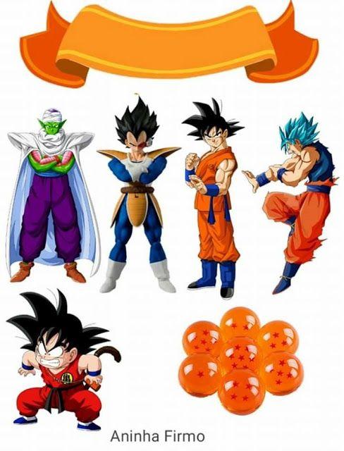 Dragon Ball Z Free Printable Cake And Cupcake Toppers Dragon Ball Anime Dragon Ball Dragon Birthday