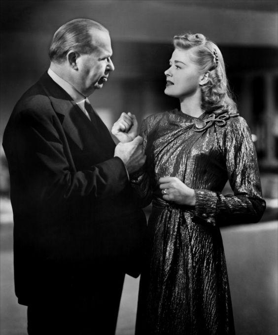 "Charles Coburn and Helen Walker in ""Impact"" (1949):"