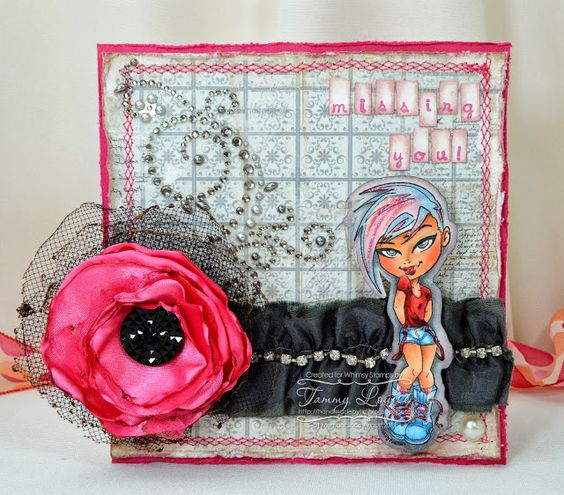 Handmade by TLC: Whimsy Challenge #64 Shabby Chic with Kenny K