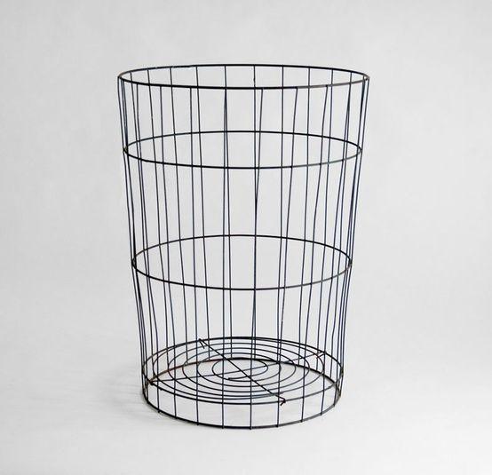 Vintage Metal Storage Basket - Mid Century, Modern, Rustic, Box. $60.00, via Etsy.... Night stand!!!!
