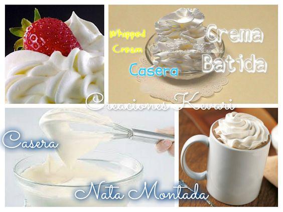 Cómo hacer crema batida a base de leche   Cocinar en casa es facilisimo.com