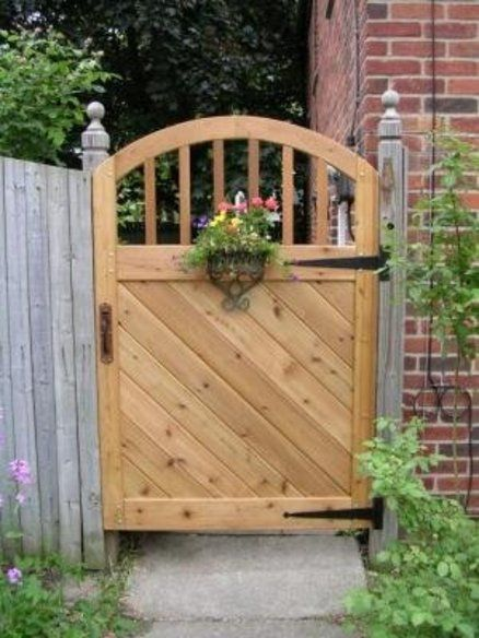 wood gate designs photos Wooden Entrance Gate Along With
