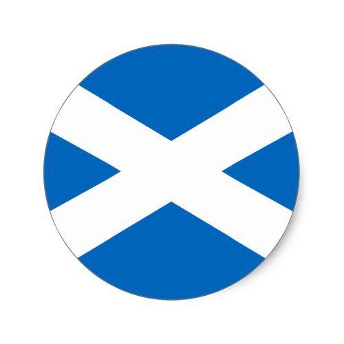 Scotland Flag Classic Round Sticker Flag Of Scotland Custom Stickers Sticker Flag