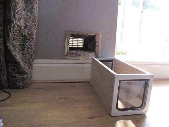Diy Interior Cat Litter Door Wooden Panel