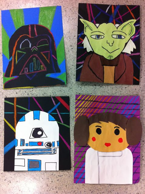 Star wars characters art education and pop art on pinterest for Star wars arts and crafts