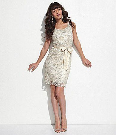 Dillard s miss me couture white dress