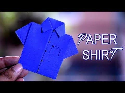 How to make a Origami Shirt - Pointless series *Video 1* - YouTube | 360x480
