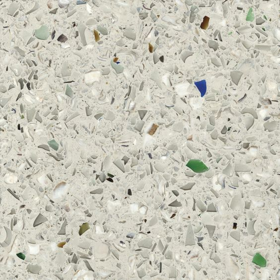 Umbo White Recycled Glass Products Vetrazzo Oyster