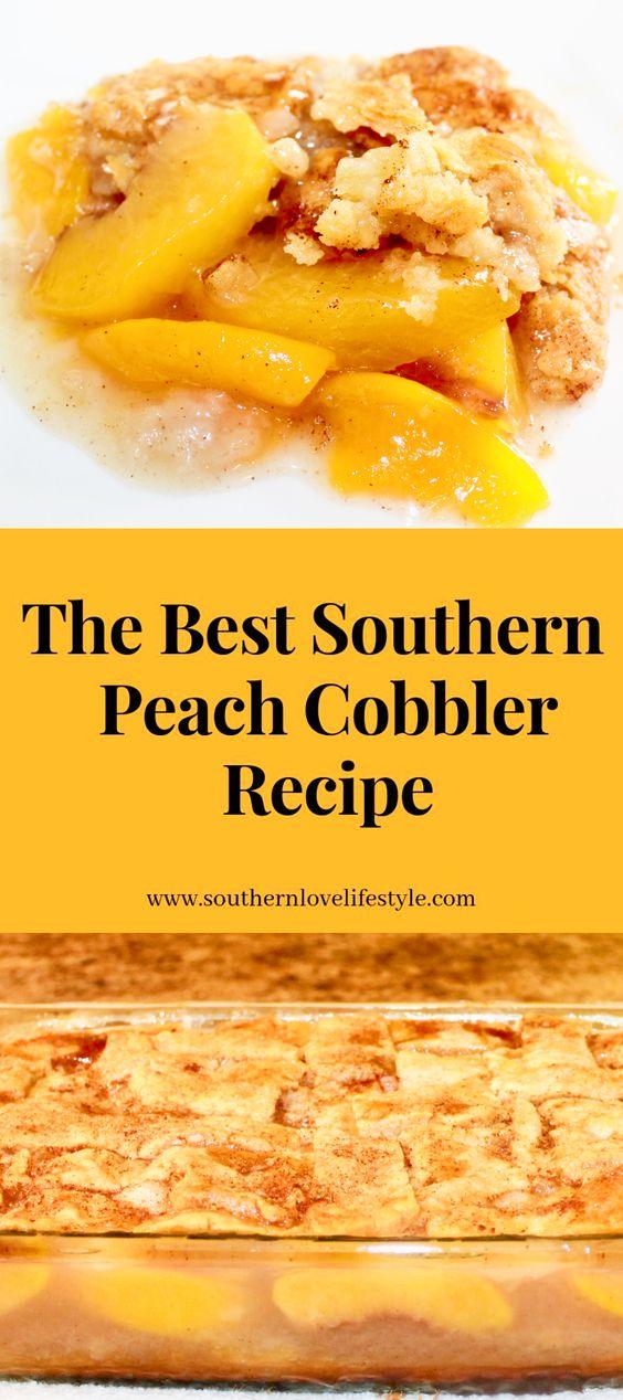 The Best Peach Cobbler Recipe