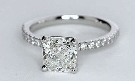 1.26ct Princess Cut Diamond Engagement Ring F-VS2 JEWELFORME BLUE GIA certified
