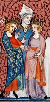 Mariage de Henri roi de France et d'Anne de Kiev, échange de consentement devant un évêque.