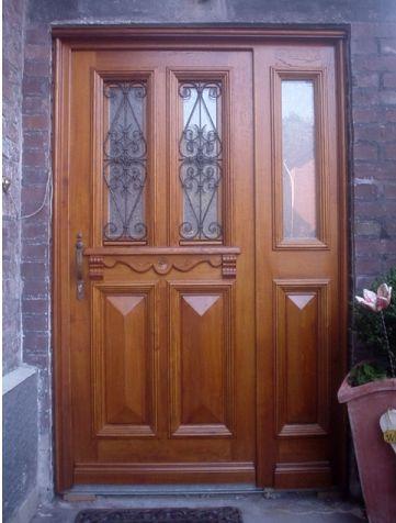 Haustüre nach Vorgaben gebaut. Mehr dazu unter: thoren-holz.de/ #Türen #Haustüre #schönerwohnen
