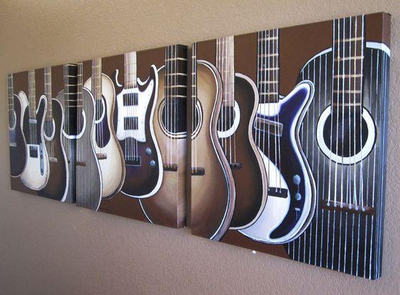Pinterest the world s catalog of ideas for Guitar bedroom designs