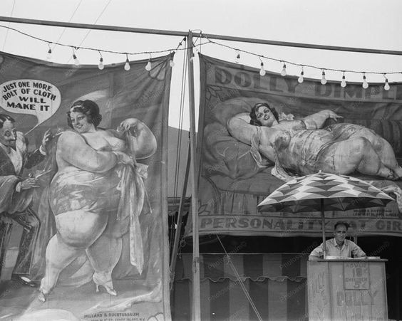 Coney Island Freak Show Dolly Dimple 1930s Photo Between about 1880 and World War II, Coney Island was the largest amusement area in the United States, attracting several million visitors per year. At