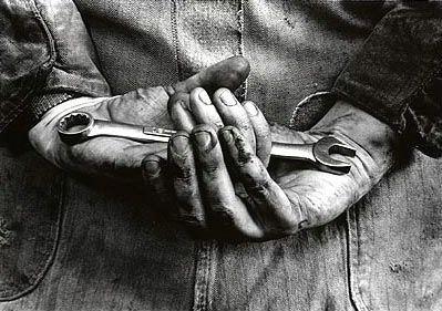 Mechanic's hands