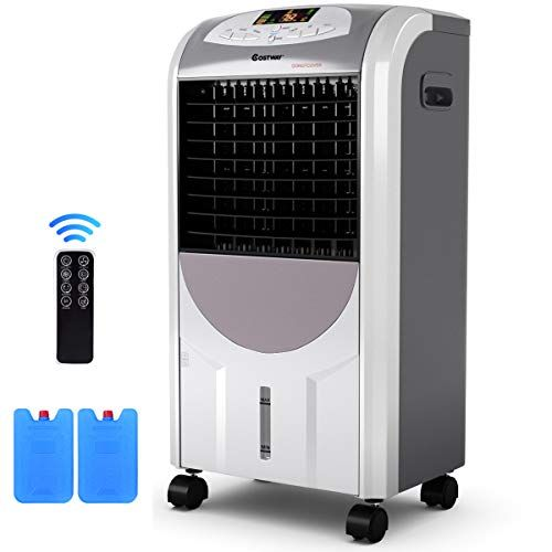 Personal Air Cooler, 2020 Portable Air Conditioner with Humidifier Air Purifier Mini Air Cooler Misting Fan with 7 Colors Light Changing, 3 Fan Speed,