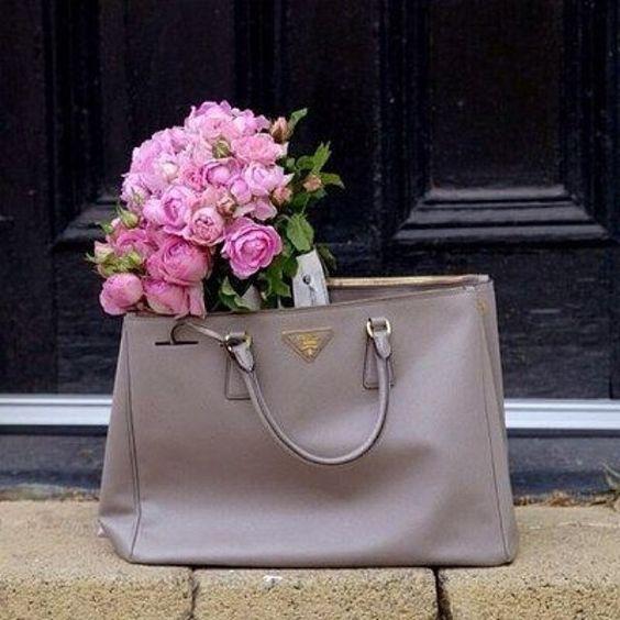 @ashleesarajones Instagram follow now Prada & Flowers can't complain! #itsallinthebag #prada #handbag #designer #fashion #style #flowers #prettythings #love