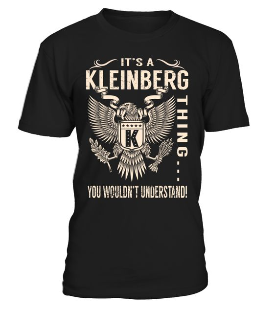 It's a KLEINBERG Thing, You Wouldn't Understand